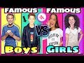Famous Boys VS Famous Girls Musical.ly Battle | Top Celebrity Stars Musically 2017