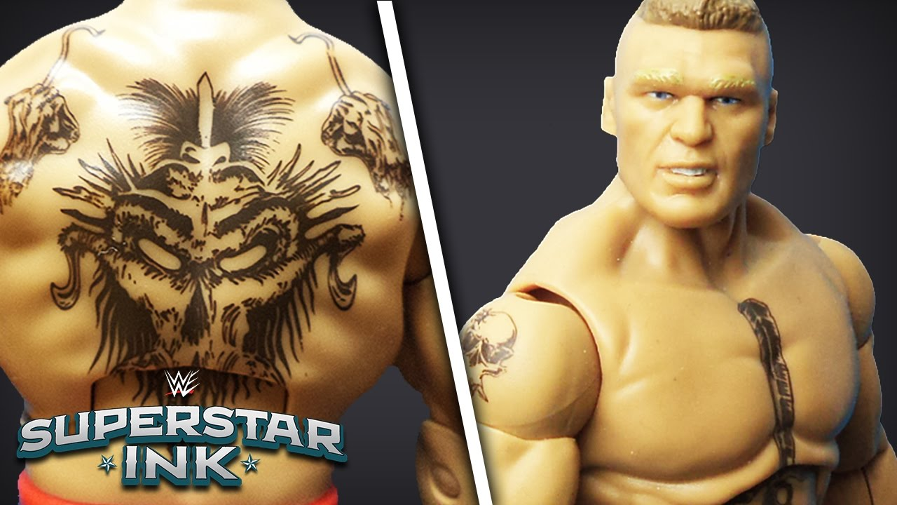 the beast brock lesnar shows his tattoos: superstar ink - youtube