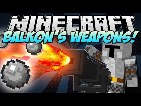 Minecraft | BALKON'S WEAPONS! (Muskets, Knives, Cannons & More!) | Mod Showcase [1.5.1]