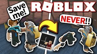 FAKE GUN PERK TROLLING Roblox Murder Mystery 2