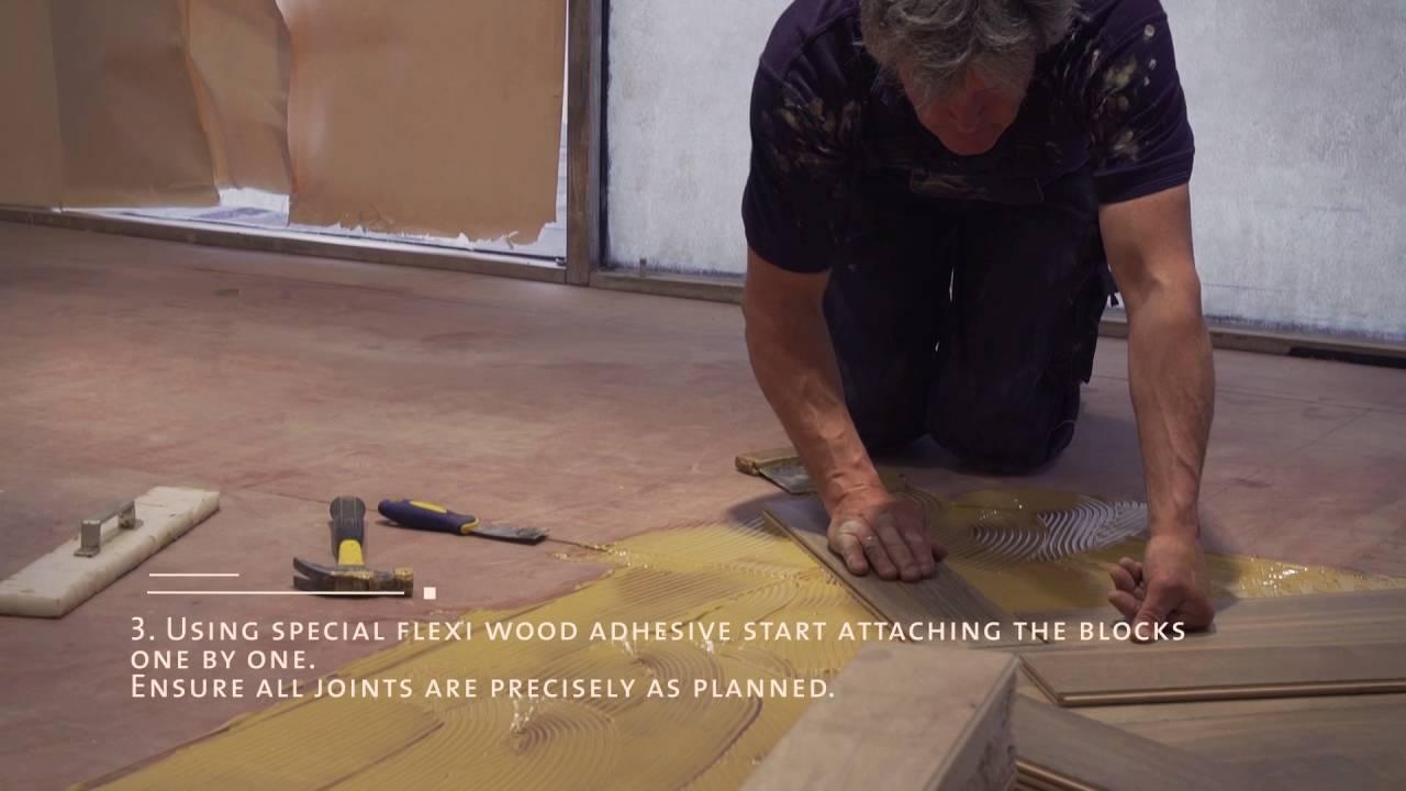 Herringbone Wood Floor Step By