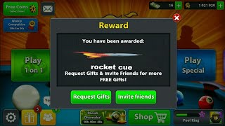 ( Rocket Cue ) For Free 8 Ball Pool New Reward Link