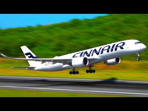 Planespotting Phuket | Multi-Cam, Beach & Jungle pos. Thai 747, FinnAir A350, NWS 777 & more 2019#01