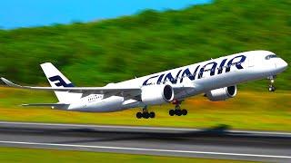 Planespotting Phuket 1/3   HEAVIES IN THE JUNGLE: Thai 747, FinnAir A350, NWS 777, Pegas 767 & more