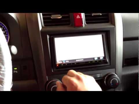 como cambiar la radio de un honda crv, por www.madridaudio.com - YouTube