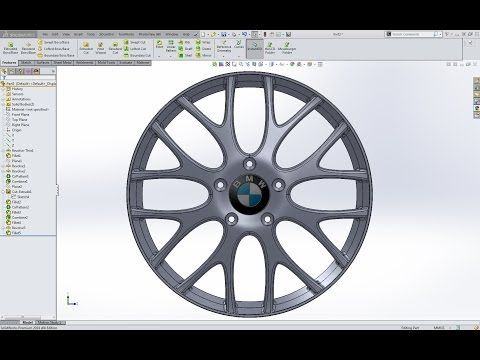 SolidWorks tutorial: BMW M5 rim