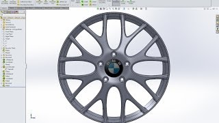 SolidWorks tutorial BMW M5 rim