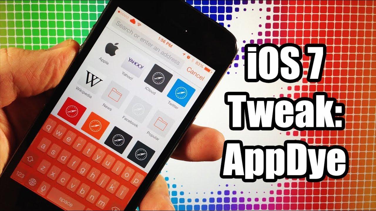 iOS 7 Jailbreak Tweak: AppDye