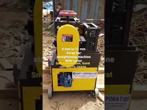 GX 6-14 Scrap TMT Bar Straightening machine working at Tata Projects