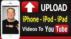  How to Upload Videos Straight From The iPhone iPod iPad to YouTube