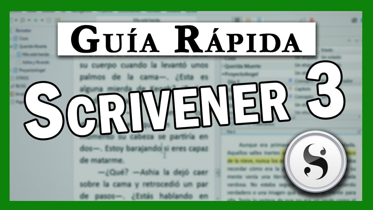 Introduccion A Scrivener 3 Programa Para Escribir Un Libro Youtube