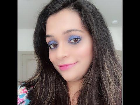 Live GRWM || Blue color block eye makeup look💙💙 || Chit chat