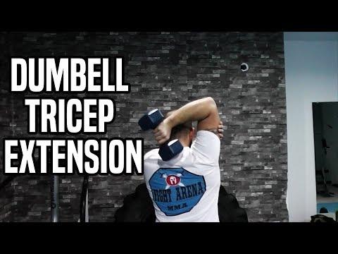 Spor Salonunda Yapılan Hatalar 26 - Dumbell Tricep Extension Nasıl Yapılır / How to Do