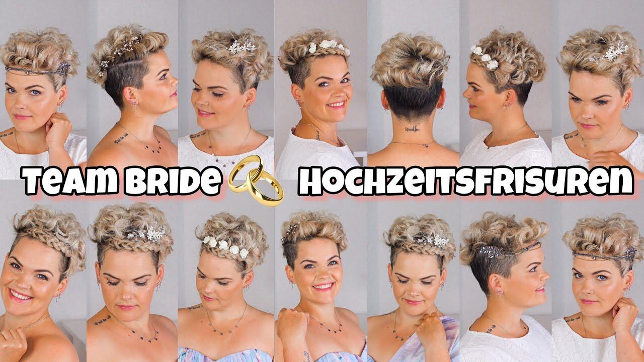 Kurze Haare stylen Hochzeit  Kurze Haare festlich gestylt   Hochzeitsfrisuren mit locken