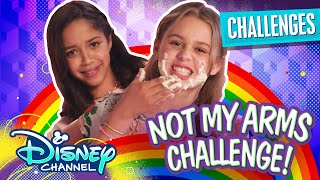 Not My Arms Challenge | Ruth & Ruby Ultimate Sleepover | Disney Channel