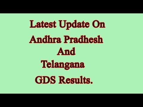 Latest update on Andhra pradhesh & Telangana GDS results ll India post.