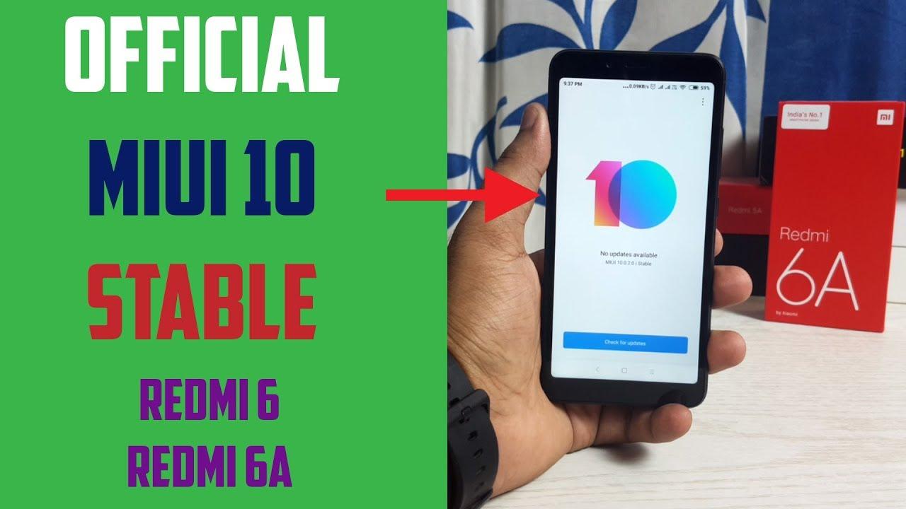 MIUI 10 Stable Update on Redmi 6   Redmi 6A  ec7570d414