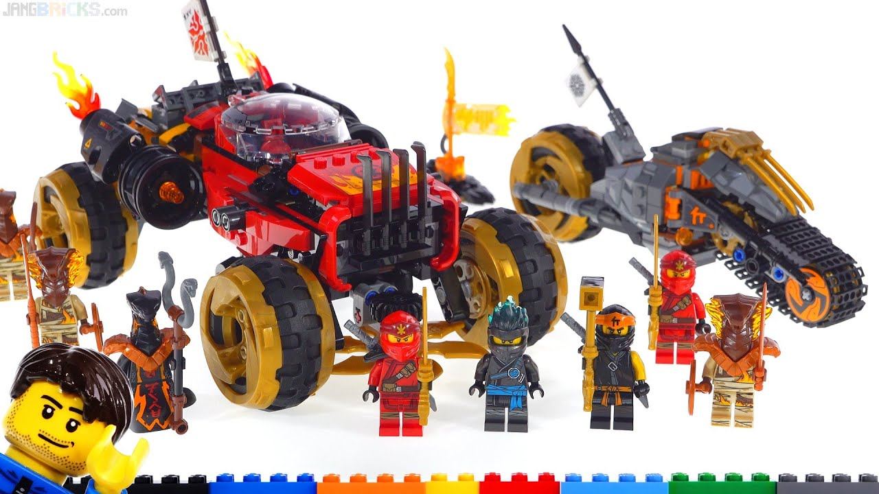 LEGO Ninjago Katana 4x4 & Cole's Dirt Bike reviews! 70672 ...