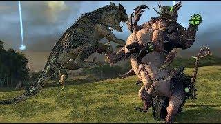 Карнозавр VS Мерзость из Адской Ямы | Тесты Total War: Warhammer 2