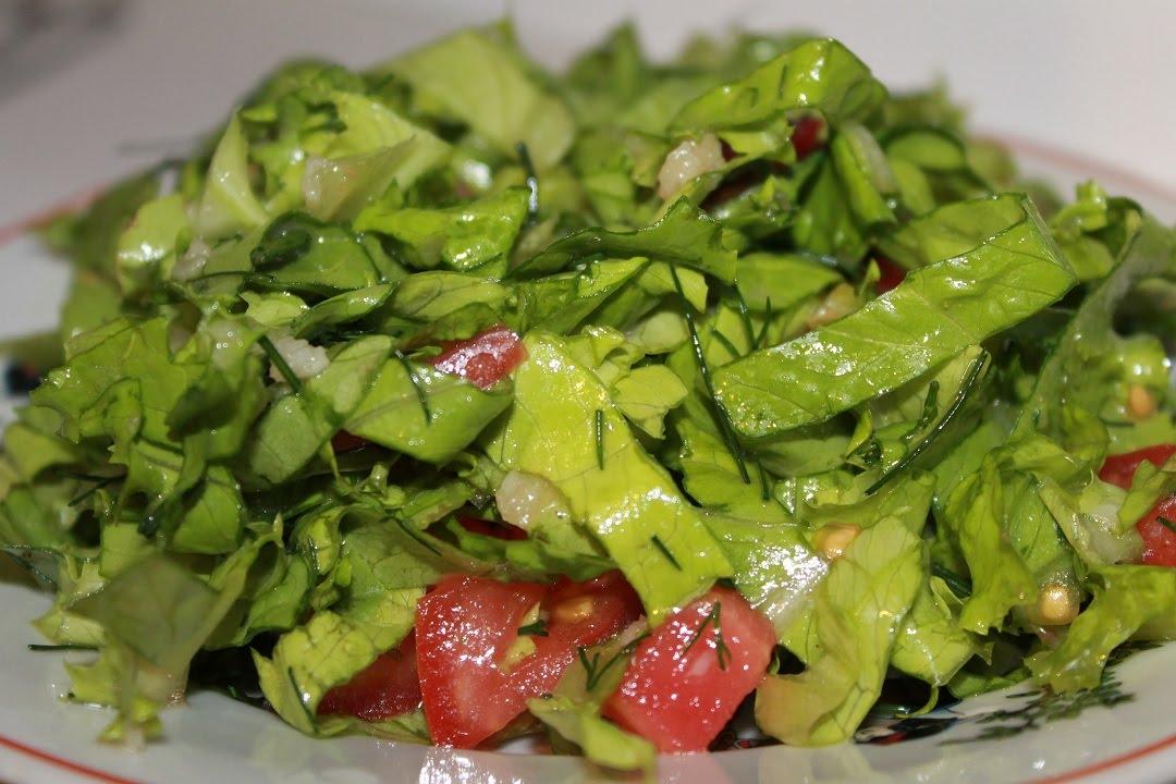 Какой салат можно приготовить из листьев салата