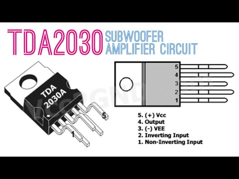 Tda2030 Subwoofer Amplifier Circuit Youtube