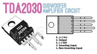 tda2030 subwoofer amplifier circuit