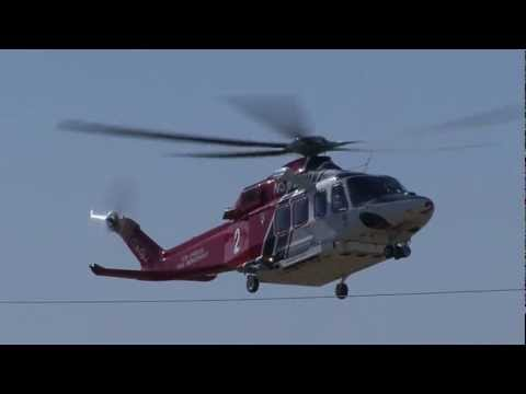 LAFD AgustaWestland AW-139 Helicopter Landing