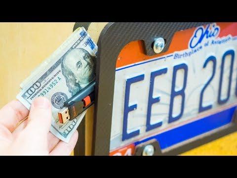 DIY Secret License Plate Stash Box - Hide Cash, Bitcoin, Keys - MR ROBOT Prototype