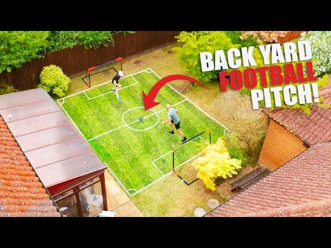 I MADE A FOOTBALL PITCH IN MY BACK GARDEN!