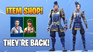 *NEW* MUSHA & HIME SKINS ARE BACK!! Fortnite Item Shop January 10, 2019