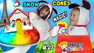 Chase's Corner: SNOOPY SNOW CONES w/ GRANDMA + The Peanuts Movie Games & Magic (#23) | DOH MUCH FUN