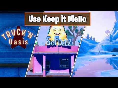 Use Keep It Mello At A Trucker's Oasis, Ice Cream Parlor And A Frozen Lake - All Locations