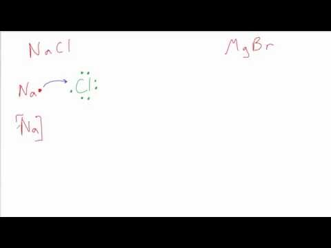 Drawing Lewis Dot Structures for Ionic Compounds: NaCl & MgBr2