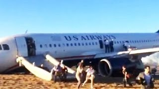 Tense Moments During Take Off in Philadelphia as Plane Goes Off Runway, Nose Crashes
