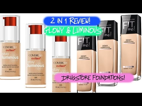 Drugstore Foundation Review | Covergirl Stay Luminous & Maybelline Fit Me Dewy and Smooth thumbnail