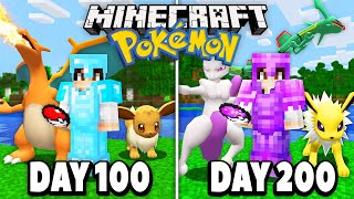 I spent 200 DAYS in Minecraft Pokémon.. here's what happened.. (Pixelmon 100 Days)