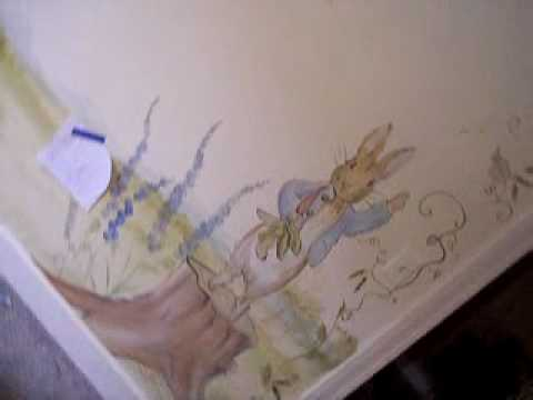 Sandy Boone Mural Artist Baby Nursery  Rabbit Theme   YouTube Part 85