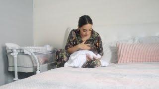 nuestra mañana con una recien nacida