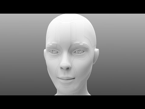 Zbrush 4R6 quick Tutorial (easy way for a Robotic Head) !