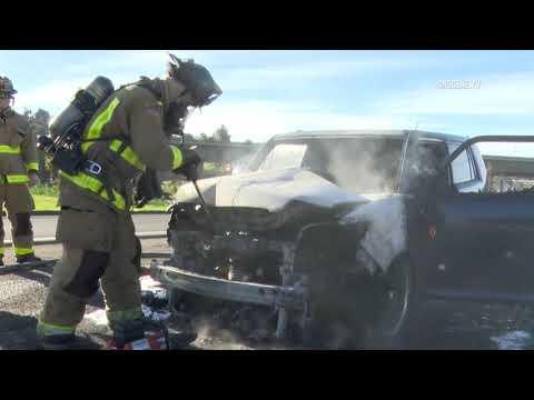 La Mesa: Hwy 125 Car Fire 01082019