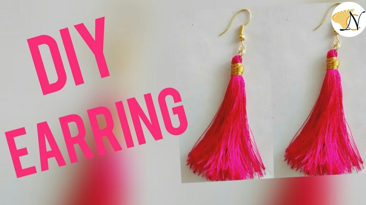 Super Easy String Tassel Earrings Diy