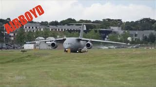 Antonov An-178 Flight Demonstration - Farnborough Airshow
