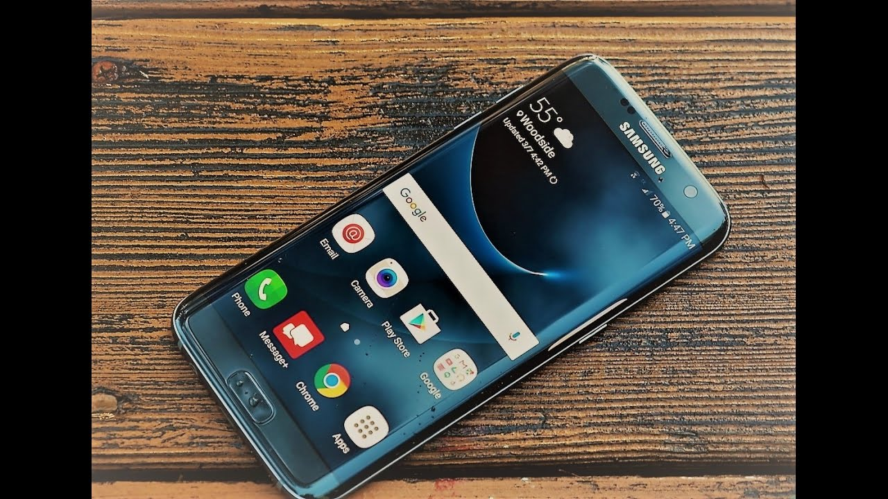 Samsung Galaxy S7 Edge - Blue Coral Unboxing - YouTube