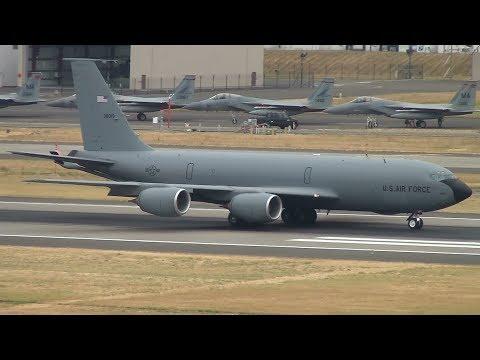 USAF KC-135 [63-8019] Takeoff Portland Airport (PDX)