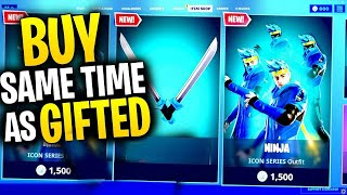 What Happens When You BUY AN ITEM The SAME TIME Someone GIFTS You? | Fortnite Mythbusters