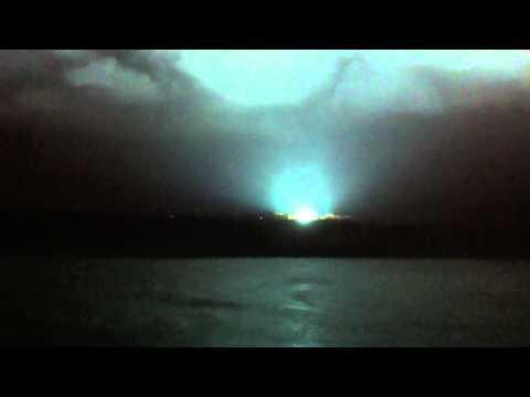 Hurricane Sandy sparks huge electrical fire in Ft Lee, NJ