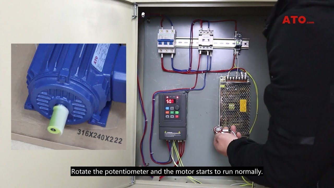 [QMVU_8575]  How to control VFD frequency with a speed potentiometer - YouTube | Wiring Diagram Remote Potentiometer |  | YouTube