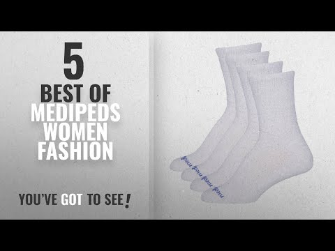 medipeds-women-fashion-[2018-best-sellers]:-medipeds-women's-diabetic-extra-wide-crew-socks-with