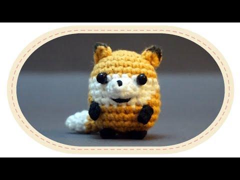 Вязаная лисичка амигуруми. Crochet amigurumi fox.