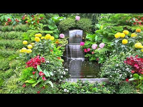 beautiful-garden-fountain-at-home,-garden-decor-fountain-#bsmotion